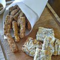 Frites de courgettes panées, pavé de cabillaud / la plancha eno