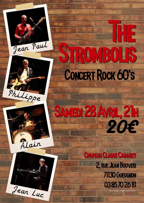 The Strombolis - Affiche Chapeau Claque Gueugnon
