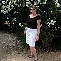 Un incontournable ... la jupe d'été en jean blanc