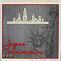 carte d'anniversaire sur le thème de new york