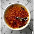 Crème brûlée au caramel et à la fleur de sel