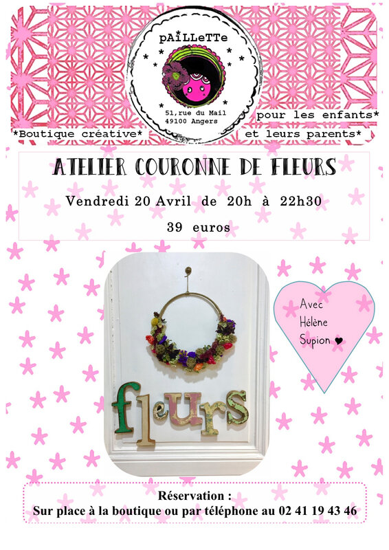 Affiche atelier couronne 20 avril