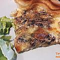 Tarte croustillante mozzarella <b>champignons</b> (C. Lignac)
