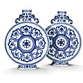 Important and rare Qianlong Imperial <b>Moonflasks</b> on preview at Bonhams New York