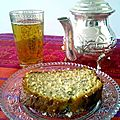 {Poppyseed and honey cake with <b>orange</b> blossom water}