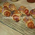 Mini hot dog feuilletés