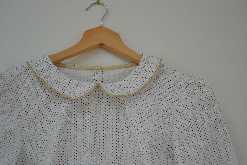 blouse col claudine détail col