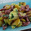 Poêlée de pommes de terre aux gésiers de canard confit
