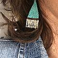 boucles d 'oreilles Ethniques Bleues