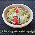 Salade de quinoa chèvre - raisins