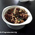 Mijoté d'agneau au riz