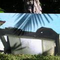 chaise longue, impression sur tôle aluminium