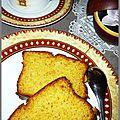 Cake orange au maitrank et safran