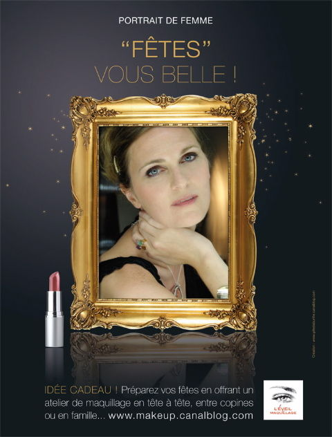 Campagne NOEL 2010 © Cathy Wagner EVEIL AU MAQUILLAGE