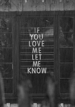 If you love me, let me know. ☏