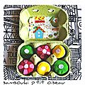 Défi sc and more n° 374: un oeuf! ici c'est une petite dînette d'oeufs rigolos pour un pique-nique improvisé!