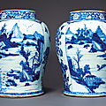 Blue and white porcelain, Kangxi period (1662-1722) from the <b>Tibor</b> <b>Collection</b> sold at Christie's New York, 23 January 2020