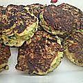 boulette végétarienne courgette, oignon, curry, flocon avoine