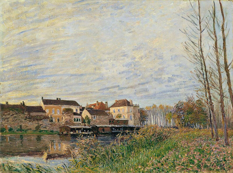 1888 - Un soir à Moret - Fin d'octobre