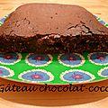 [pause sucrée] le gâteau chocolat - coco