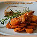 Carottes et abricots au romarin