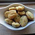 Mini madeleines crabe ciboulette