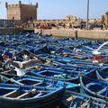 Les petits bateaux dans le port d'essaouira