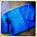 Cropped gilet for baby doll