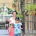 Barcelone, Poble Espanyol, mes filles J., E. et moi, mai 2011