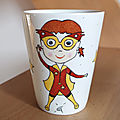 <b>Mugs</b> en porcelaine Lili et Ludo