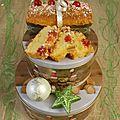 Cake de noel citron et fruits confits