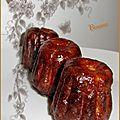 Cannelés lardons parmesan