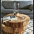 3 rondins de bois = 1 table basse