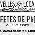 Fêtes de la <b>Mi</b>-<b>carême</b> 1923 à Belfort, la Cavalcade