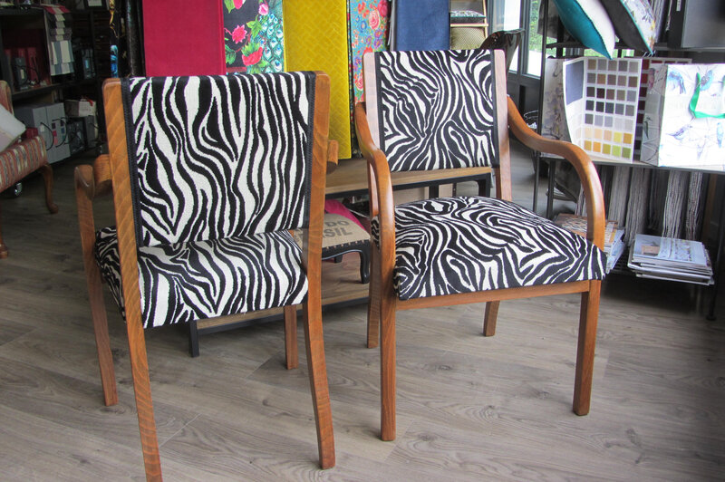paire de fauteuil zebre