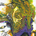 070 - Painting pouring acrylique
