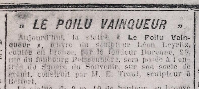 1928 03 28 Poilu La Frontière 2R