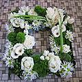 les pièces florales funéraires