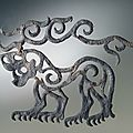 Pazyryk culture, Applique: Tiger with Stag's Horns, <b>6th</b> <b>century</b> BC
