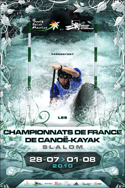 Affiche Championnat France Slalom 2010 à BSM