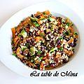 Salade quinoa et azukis