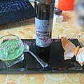 Verrines glacées de petits pois à l'huile de truffe