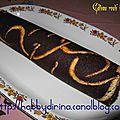 Gâteau roulé imprimé fourré chocolat / рулет с рисунком и шоколадной начинкой