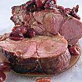 Filet de porc mariné au Cola, glaçage aux cerises