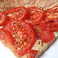 Tarte aux tomates et à la moutarde