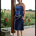 jupe passepoilée