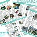La communauté de communes dans le bulletin cantonal