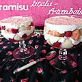 Tiramisu litchi et framboise