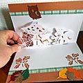 carte kirigami écureuil et champignon