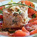 Salade de saumon rose.